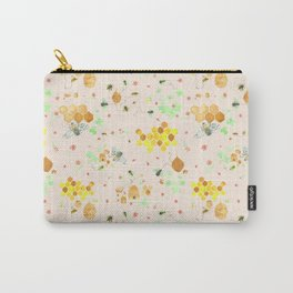 Whimsical Honeybees | Hives Honeycomb Clover Flowers Carry-All Pouch