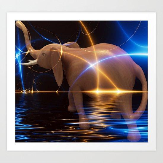 Elephant Treck Art Print