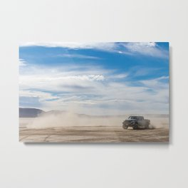 Off Road Truck in the Desert Metal Print