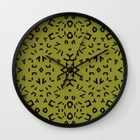 alphabet Wall Clocks featuring Alphabet by Chelsea Densmore