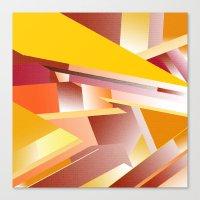 orange pattern Canvas Prints featuring Orange pattern by sladja