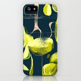 Lemon and lime iPhone Case