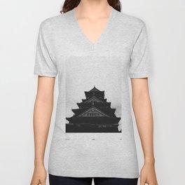 Osaka Castle Unisex V-Neck