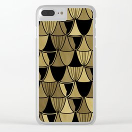 Gold Art Deco Goblets Clear iPhone Case