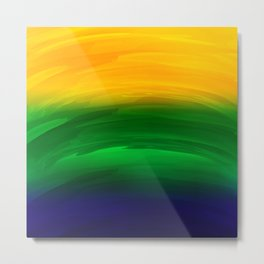 brazil simple abstract watercolor Metal Print