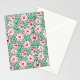 Blossoms in Strawberry Ice Stationery Cards