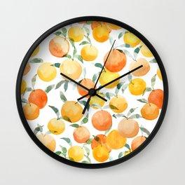Orange Groove Wall Clock