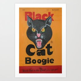 Black Cat Boogie Art Print