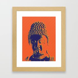 Head of the Buddha Framed Art Print