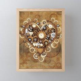 Steampunk Heart Love Framed Mini Art Print