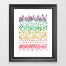 Tribal Sunrise Framed Art Print