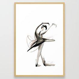 Dance Drawing Framed Art Print