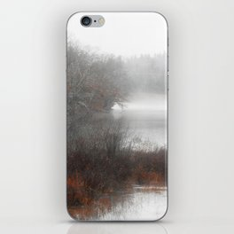 Foggy lake on a winter day - Nature Photography iPhone Skin
