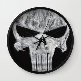 Punisher skull Wall Clock