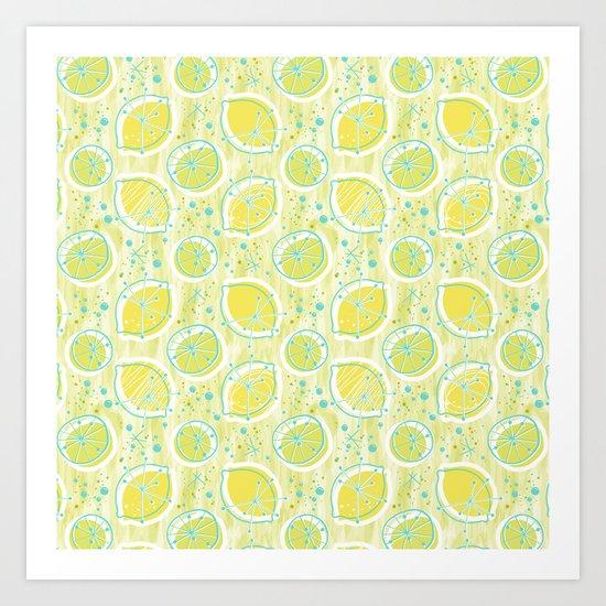 Atomic Lemonade_Green and Cerulean Art Print