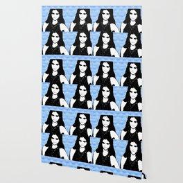 Ms. Gomez Pop Art Blue Wallpaper