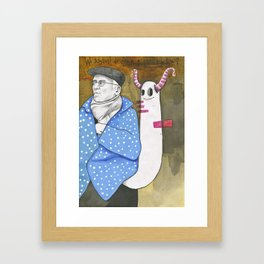 Where are you looking at? Framed Art Print
