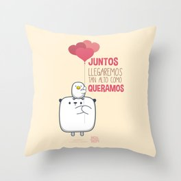 Cojin Juntos Llegaremos Throw Pillow