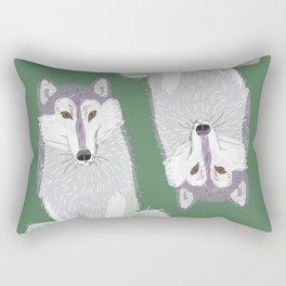 Canadian Wolf (Canis lupus occidentalis) (c) 2017 Rectangular Pillow
