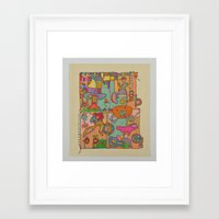 pixies Framed Art Prints featuring 'Pixies' by T.W.Dixon