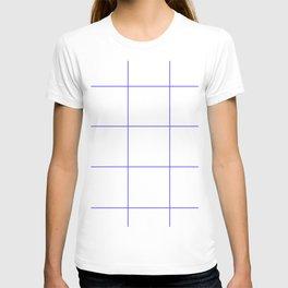 Blue Lines White Polygons T-shirt