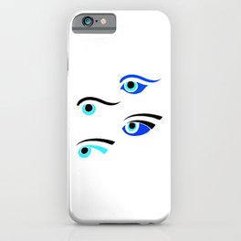 Greek Fishing Boat Protective Eyes iPhone Case