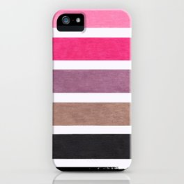 Colorful Pink Geometric Pattern iPhone Case