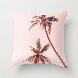 Sunset palms Throw Pillow