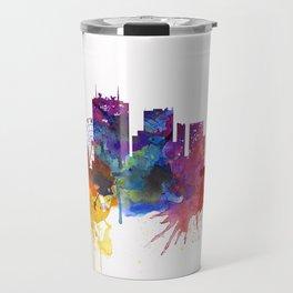 Birmingham Watercolor Skyline Travel Mug