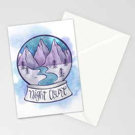 NIGHT COURT SNOW GLOBE Stationery Cards