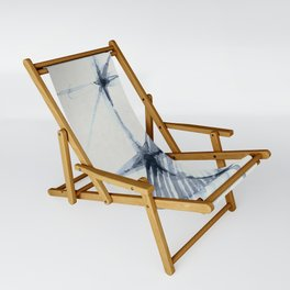 Simply Wabi-sabi in Indigo Blue on Lunar Gray Sling Chair