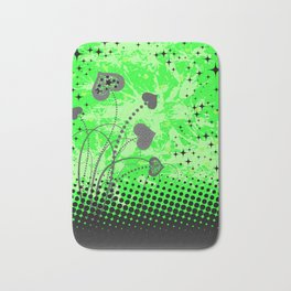 Abstract ornament with hearts Bath Mat
