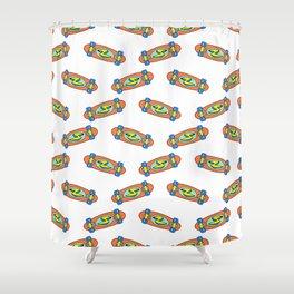 Skate pattern I Shower Curtain