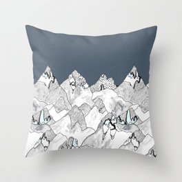 At night in the mountains Throw Pillow