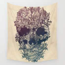 Skull Floral Wall Tapestry