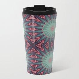 Mauve & teal starburst Travel Mug
