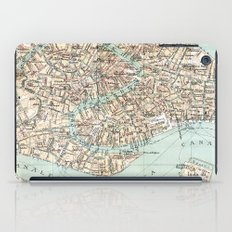 Vintage Venice Map iPad Case
