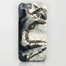The Sleeping Lady Mountain, Mount Susitna, Alaska iPhone Case