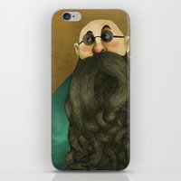beard iPhone & iPod Skins featuring Beard by Slavena Peneva