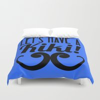 kiki Duvet Covers featuring Let's Have A Kiki! by Alli Vanes