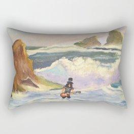 S l a s h  in the ocean Rectangular Pillow