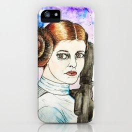 Princess Leia Watercolor iPhone Case