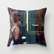 Audrey Hepburn @ Breakfast at Tiffany's Throw Pillow