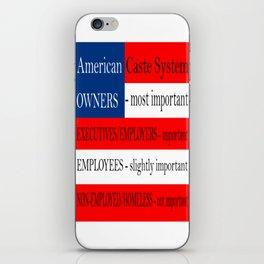 American Caste System iPhone Skin
