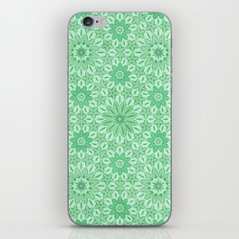 Rings of Flowers - Color: Mint Julep iPhone Skin