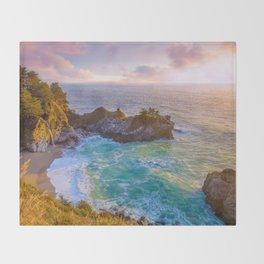 Magical Cove, Big Sur II Throw Blanket