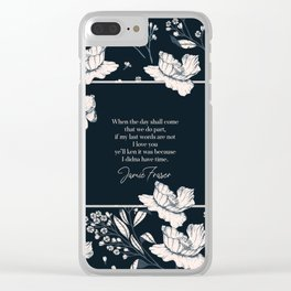 When the day shall come that we do part... Jamie Fraser Clear iPhone Case