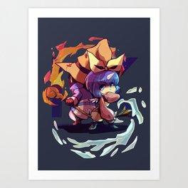 Fire & Wind Art Print