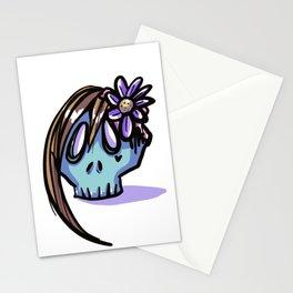Mémento mori girl Stationery Cards
