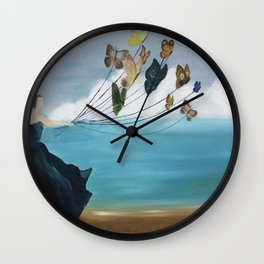 Butterfly Baloon Wall Clock
